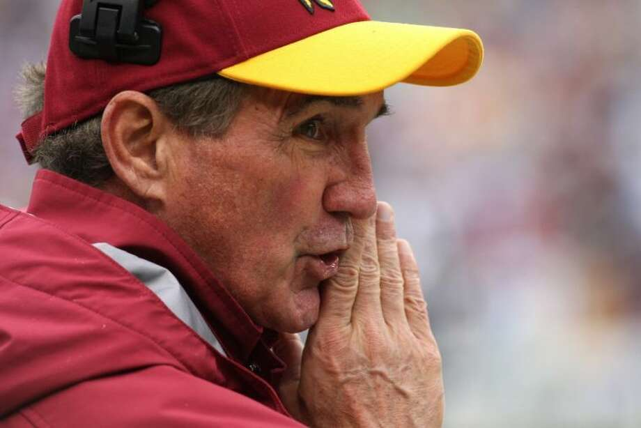 Mike Shanahan was fired after a Monday morning meeting with owner Dan Snyder and general manager Bruce Allen at Redskins Park after the team finished a 3-13 season. He was one of five NFL coaches who were fired early Monday.  Photo: Linda D. Epstein/MCT