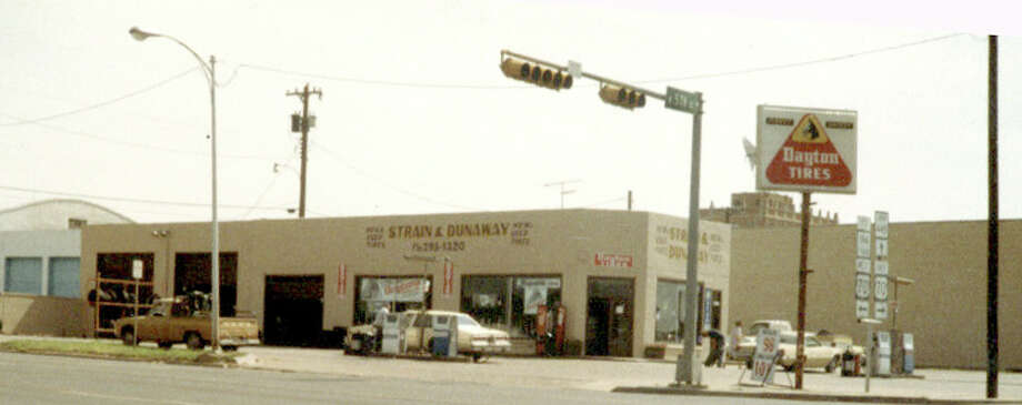 Leon Phillips operated Strain & Dunaway Service Station at Fifth and Columbia for almost 20 years, until the structure was razed in April 1991 to make way for a convenience store. Before 1972 the station was located at Fifth and Austin, in the Kiker Building.