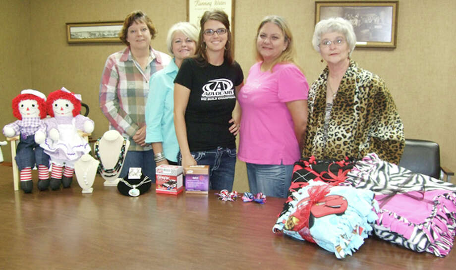 Plainview women plan to display their products at the 38th Annual Plainview Arts & Crafts Festival. They include Terri Utley (left), Dawn McCulloch, Jamie Morphis, Annetta Oliverez and Carolyn Riley Photo: Gail M. Williams | The Herald