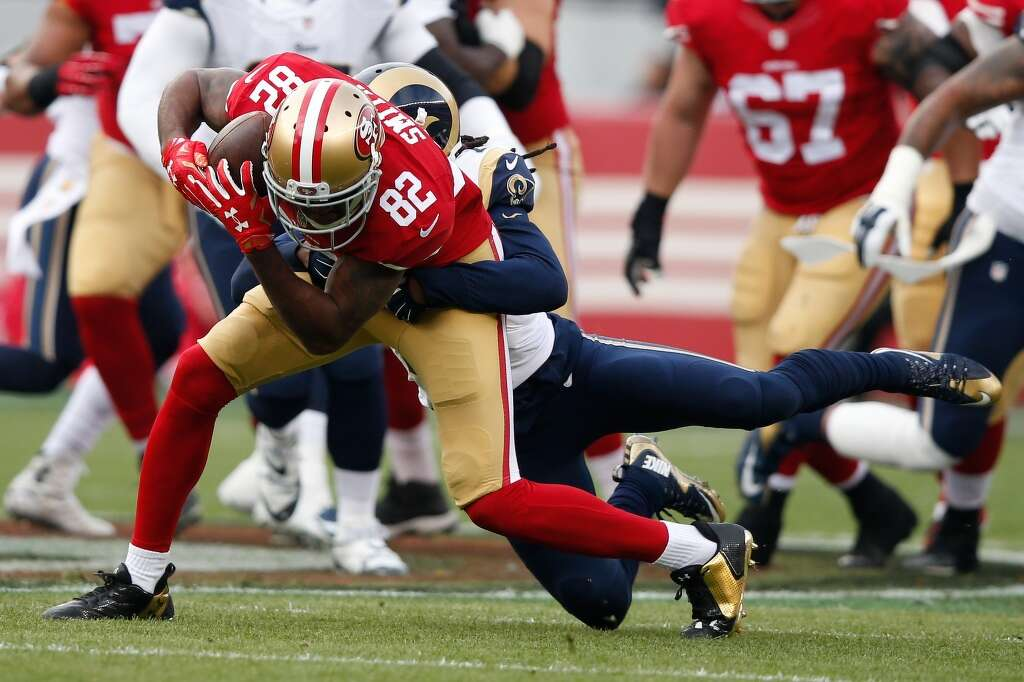 ... NFL San Francisco 49ers Game Worn Jersey 10 Bruce Ellington Size 40 7.  A healthy Torrey Smith transitions to a No. 5dd11f2ab