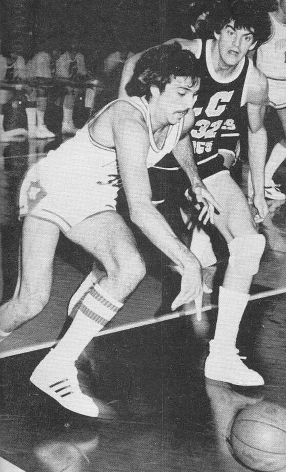 Pioneer Rick Cooper maneuvers his way past a defender during his days at WBU. Cooper will be inducted into Wayland's 2012 Hall of Honor for his accomplishments as a player and coach. Photo: Wayland Baptist University Photo