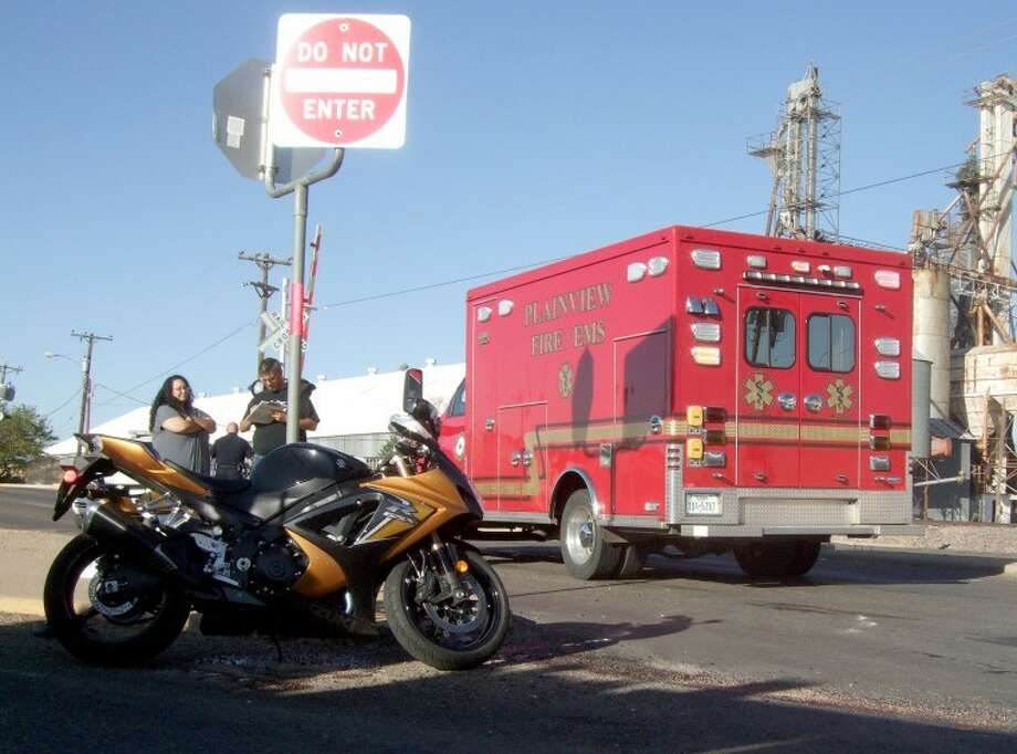A motorcycle accident just after 5 p.m. Friday where Quincy Street curves into Dimmitt Road in front of the former bowling alley reportedly resulted in minor injuries to the driver and his young daughter. Although an accident report was not available, the motorcycle driver reportedly swerved to avoid a vehicle when the bike went down.