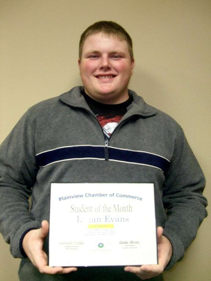 Wayland freshman Logan Evans is the Plainview Chamber of Commerce Student of the Month. The son of Arlen and Stephanie Evans of Plainview, he was involved in baseball and band at PHS where he earned a 5.0 GPA and received the Pioneer Scholarship. He is a member of the Head-On Foundations of University Life class, assisted the Lubbock Salvation Army in feeding the hungry and participated in WBU's Degree of Difference Day. He wants to become a coach.