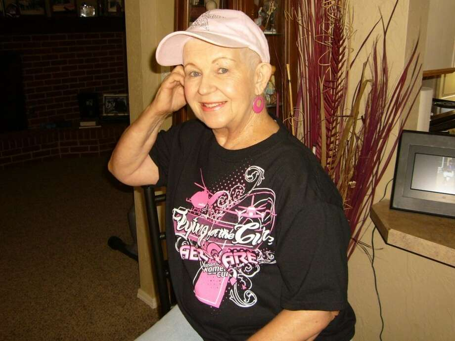 """Courtesy PhotoLinda Dunn, who recently celebrated the completion of a year-long series of chemo, radiation and a mastectomy, credits her yearly mammogram with finding her """"almost"""" stage 4 aggressive breast cancer. She also credits her faith in God, prayer and her husband, Louie, who was her caregiver, with her positive outlook."""