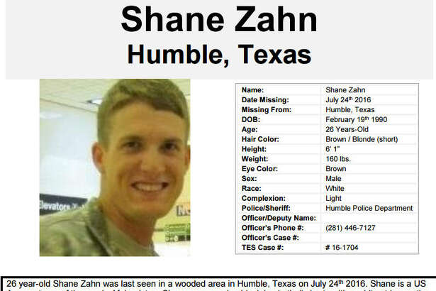 Authorities and volunteers are searching for 26-year-old Shane Zahn who went missing Sunday, July 24, 2016, when he walked away from Memorial Hermann Northeast hospital in Humble. (Texas EquuSearch)