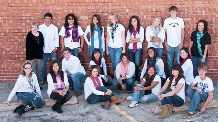 The 2011-12 PHS yearbook staff includes Alexandria Fletcher (front left), Destiny Villanueva, Sara Bustos, Alma Ramirez, Megan Montez, Jacob Naron, Riley Alford (second row left), Laura Castillo, Mercedes Ramirez, Justy Pena, Sayra Cardiel, sponsor Cynthia Gregory (back left), J.J. Perez, Alexsandra Martinez, Jill Harrell, Aaryn McCaleb, Lupita Quintanilla, Shaina Dulakis, Jagar Halblieb and Meagan Bordayo. Photo: Don Dickson Photography