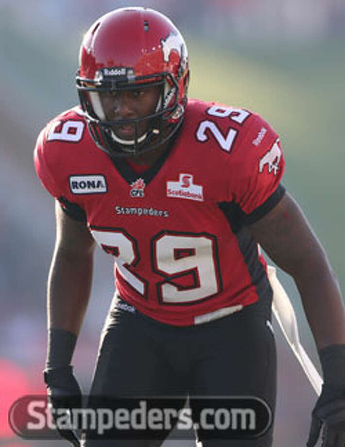 Calgary Stampeders' defensive back Jamar Wall reaches the Grey Cup Championship in his debut season with the Canadian League. The Stampeders take the field today at 5 p.m. Central. Photo: Photo Courtesy Of Stampeders.com