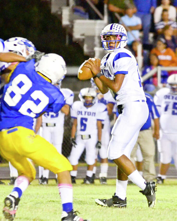 Olton senior quarterback Tommy Guerrero has been the catalyst for the Mustangs this season. He will need to continue to play well to help the Mustangs advance through the postseason which opens at 7:30 p.m. Friday against Stamford in Post. Photo: Albert Gomez / Albert Gomez Photography 2011