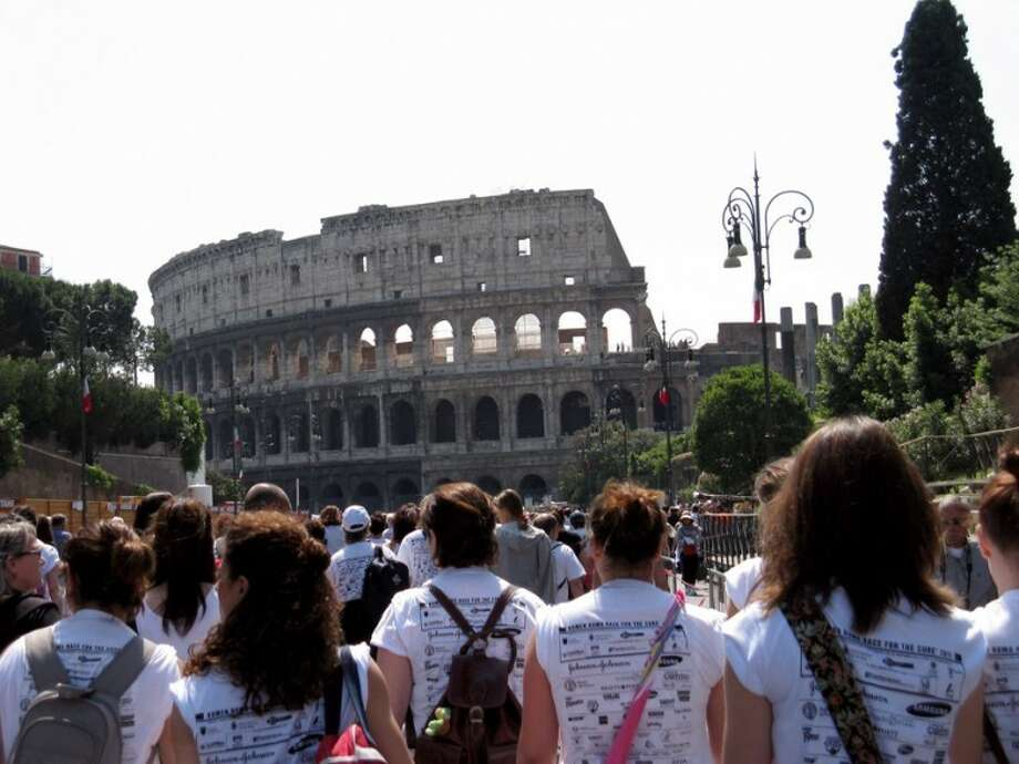 Linda Thompson of Olton went to Rome in May to participate in the Susan G. Komen Race for the Cure.