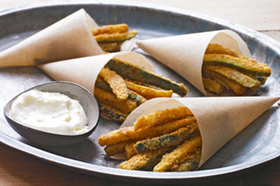 "Zucchini ""Fries"" with Lemon Aioli Photo: Photo Courtesy Of Kraft.com"