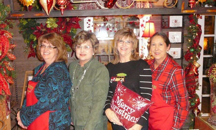 Possibilities, a gift and home decor shop located in Olton, recently hosted a holiday open house at which customers were treated to a buffet of refreshments. Pictured are (from left) Mary Bass, Carol Redinger, Terrie Carson and Tanya Debnam.
