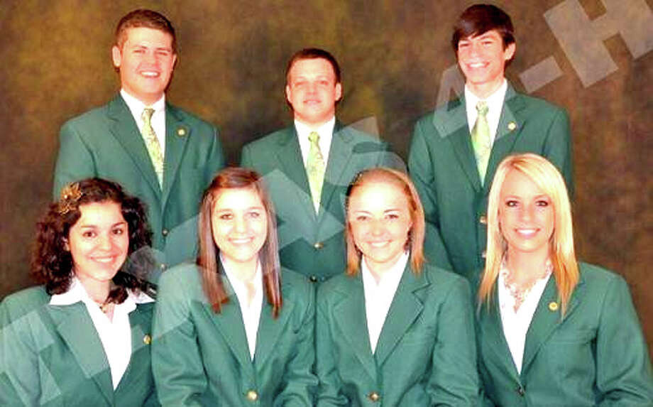 Landon Woods (back left) of Plainview is serving as vice president of the State 4-H Council. The son of Randy and Candace Woods serves on numerous committees and will be playing a part with Texas 4-H Roundup when it is held in June at Texas Tech University. He also assisted with the Junior Leadership Retreat and 4-H Teen Retreat held at the 4-H Center in Brownwood, as well as volunteering at the state fair in Dallas this fall. Other council members are President Chase Vineyard, Historian Ethan Muehlstein, Vice President Onelisa Garza, Secretary Gracen Daniel, Health and Safety Officer Rachel Cooper and Public Relations Officer Brandi Ortolon.