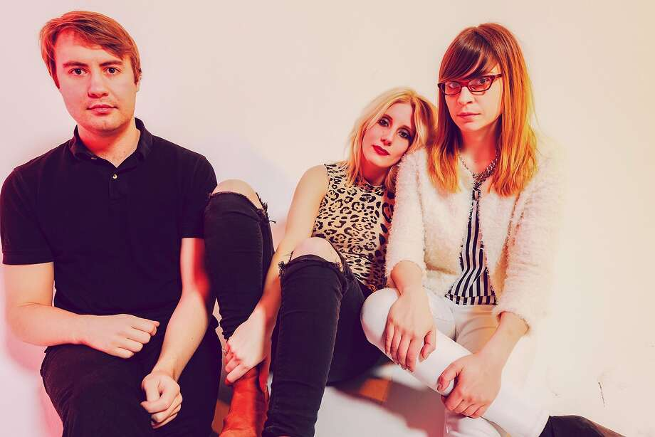 Kenneth William (left), Mish Barber-Way and Anne-Marie Vassiliou of White Lung come to San Francisco. Photo: Rick Rodney