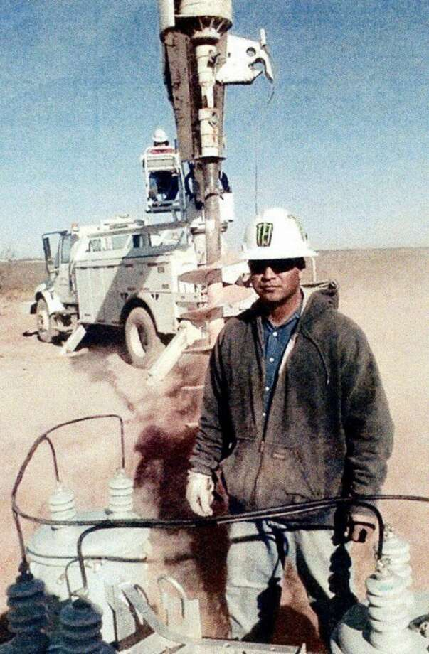 Courtesy Photo by METEric Gonzalez is an electrical lineman helper with TESSCO, an electrical company in Stanton. Gonzalez attended electrical lineman helper classes in the fall of 2010 at Western Texas College in Snyder. The Motivation, Education and Training, Inc. office in Plainview sponsored the former farm worker.