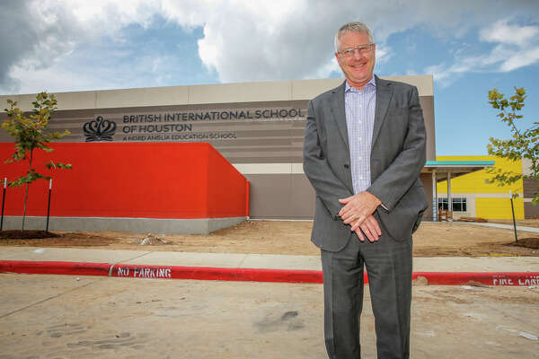 British International School of Houston Principal Andrew Derry stands outside the school which is under construction at the intersection of Westgreen Boulevard and Franz Road in Katy. The school is set to open its new location in the fall.British International School of Houston Principal Andrew Derry stands outside the school which is under construction at the intersection of Westgreen Boulevard and Franz Road in Katy. The school is set to open its new location in the fall.