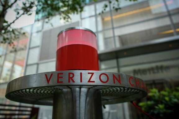 Verizon said its net income after paying dividends on preferred stock fell to $702 million, or 17 cents per share. Excluding one-time costs related to the strike, charges related to the early redemption of debt, and other items, Verizon said it earned 94 cents per share.