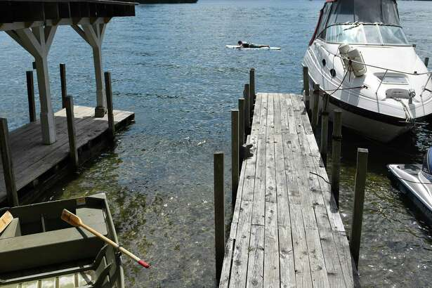 A view of the empty boat slip at Tea Island Resort where a boat involved in an accident Monday night was abandoned later in the eveing, seen here on Tuesday, July 26, 2016, in Lake George, N.Y.  (Paul Buckowski / Times Union)