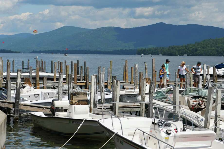 Boats are seen tied up on the south end of Lake George on Tuesday, July 26, 2016, in Lake George, N.Y.   (Paul Buckowski / Times Union) Photo: PAUL BUCKOWSKI / 20037439A
