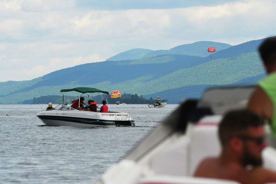 Boaters make their way out onto the south end of Lake George on Tuesday, July 26, 2016, in Lake George, N.Y.   (Paul Buckowski / Times Union)