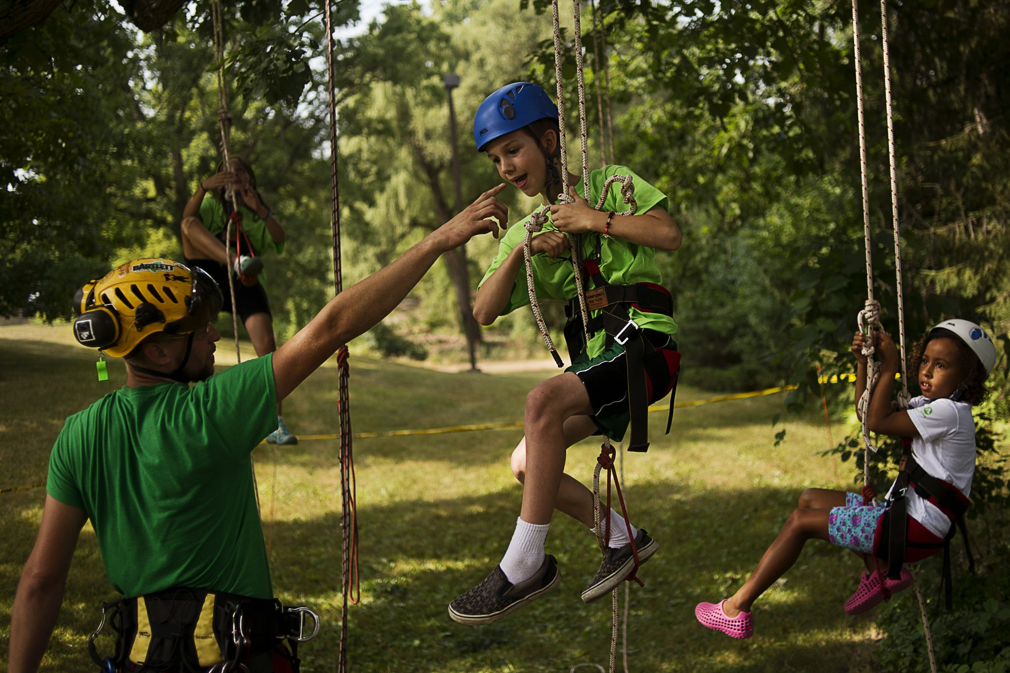 Tree Climbing at Dow Gardens Whiting Forest - Midland Daily News