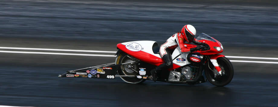 Peggy Llewellyn is a successfull female motorcycle racer on the NHRA Circuit. Photo: Courtesy Photo