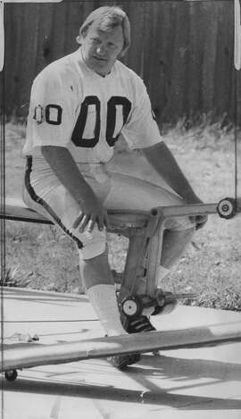 Oakland Raiders center Jim Otto at training camp   Handout     Photo ran 07/25/1974, p. 45