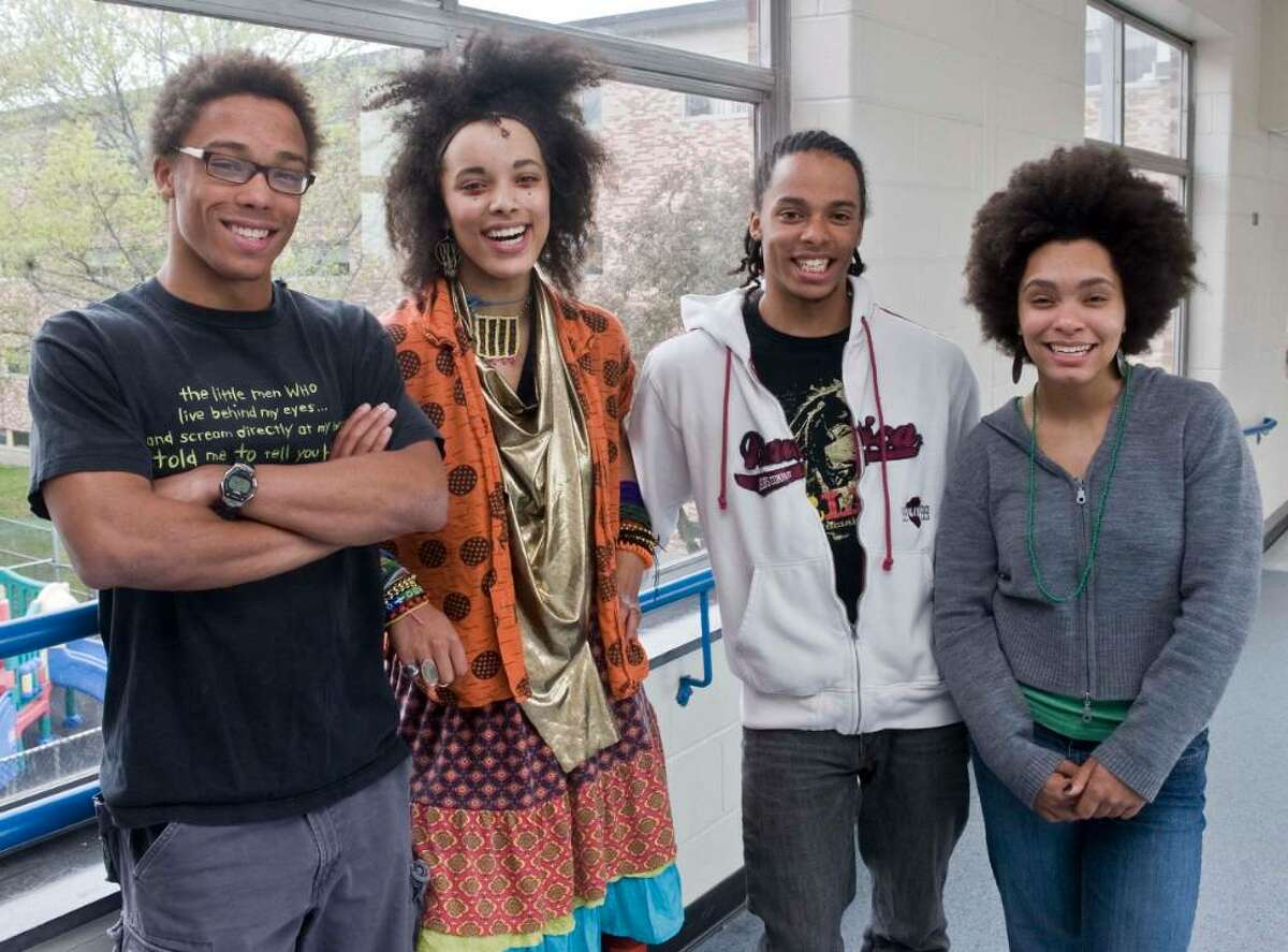 Danbury High School quadruplets, from left, Ray, Martina, Ken and Carol Crouch will all attend Yale University in the Fall. Photo taken Wednesday, April 28, 2010