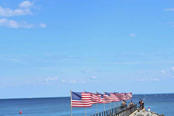 The town has been rebuilding, repairing and strengthening the shoreline since Superstorm Sandy. The fishing pier at the South Benson Marina and Jennings Beach is one of those projects. Fairfield, CT. July 20,2016