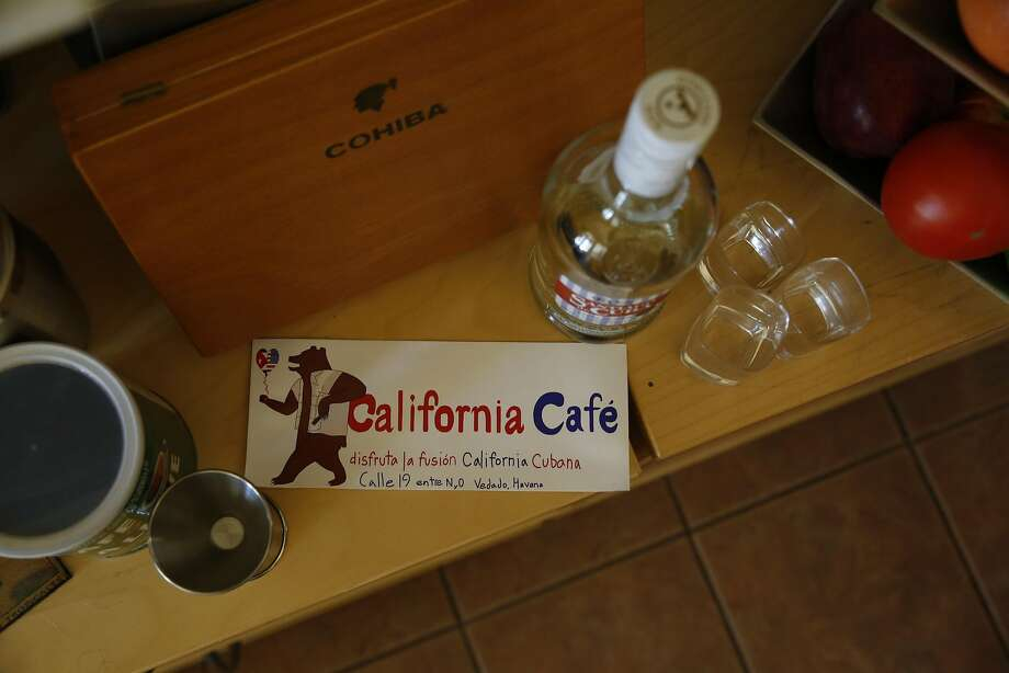 A bumper sticker for California Cafe, owned by Shona Baum and Paver Core Broche. Photo: Lea Suzuki, The Chronicle