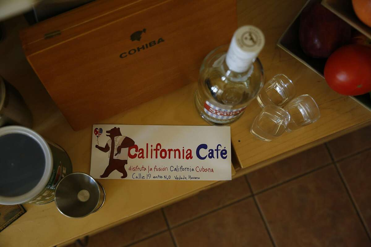 A bumper sticker for California Cafe, owned by Shona Baum and Paver Core Broche.