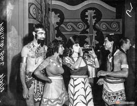 Parilia Ball Feb 25, 1938, Aztec costumes drinking alcohol. Courtesy of  OpenSFHistory.org .
