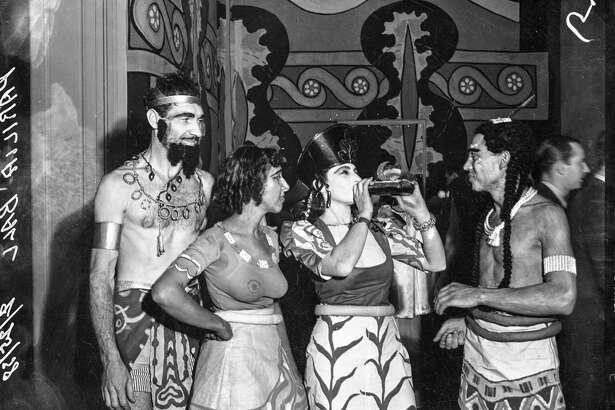Parilia Ball Feb 25, 1938, Aztec costumes drinking alcohol. Courtesy of  OpenSFHistory.org .