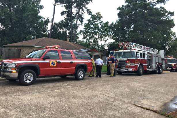 No injuries were reported in a fire at a house on Greenwood Drive in Beaumont on Tuesday afternoon. Photo by Sara Flores/The Enterprise