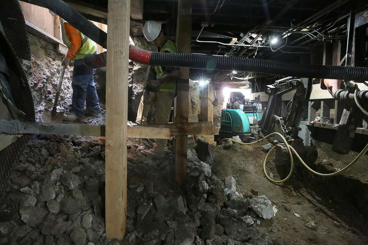 Soft story retrofit is done on an apartment building on Sycamore St. on Monday, July 25, 2016, in San Francisco, Calif. Two units are planned for this floor. San Francisco property owners have 60 days to file plans to retrofit wood-frame apartment buildings or may face fines.