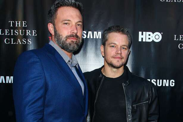 """FILE - In this Aug. 10, 2015 file photo, Ben Affleck, left, and Matt Damon attend the """"Project Greenlight"""" premiere of """"The Leisure Class"""" in Los Angeles. Damon said in an interview that he was shocked that that HBO didn't pick up """"Project Greenlight"""" for a fifth season. The series chronicles the production of an independent film. Damon says that that they'll start shopping the show around again, and thinks that there are places like Netflix or Amazon where it might thrive for additional seasons. (Photo by Paul A. Hebert/Invision/AP, File)"""