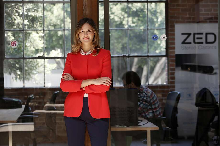 CEO Cecile Schmollgruber, of Stereolabs 3D video, has joined the Si Women's Circle, part of a perfume launch by Giorgio Armani. In an empowerment campaign, five powerful women share their life stories in the launch of Giorgio Armani new perfume. Photo: Liz Hafalia, The Chronicle