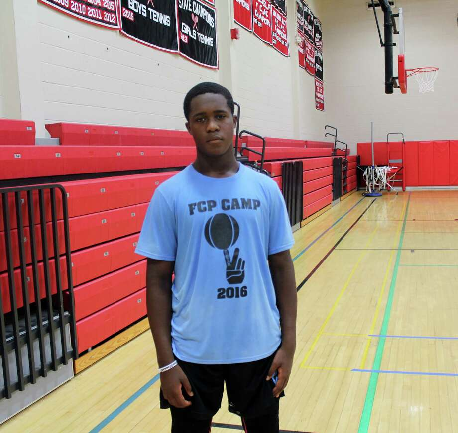 """Quentar """"Q"""" Taylor, 14, of Trumbull at the Full Court Peace basketball camp at New Canaan High School on July 22, 2016. Photo: Justin Papp / Hearst Connecticut Media / New Canaan News"""