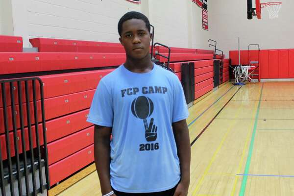 "Quentar ""Q"" Taylor, 14, of Trumbull at the Full Court Peace basketball camp at New Canaan High School on July 22, 2016."