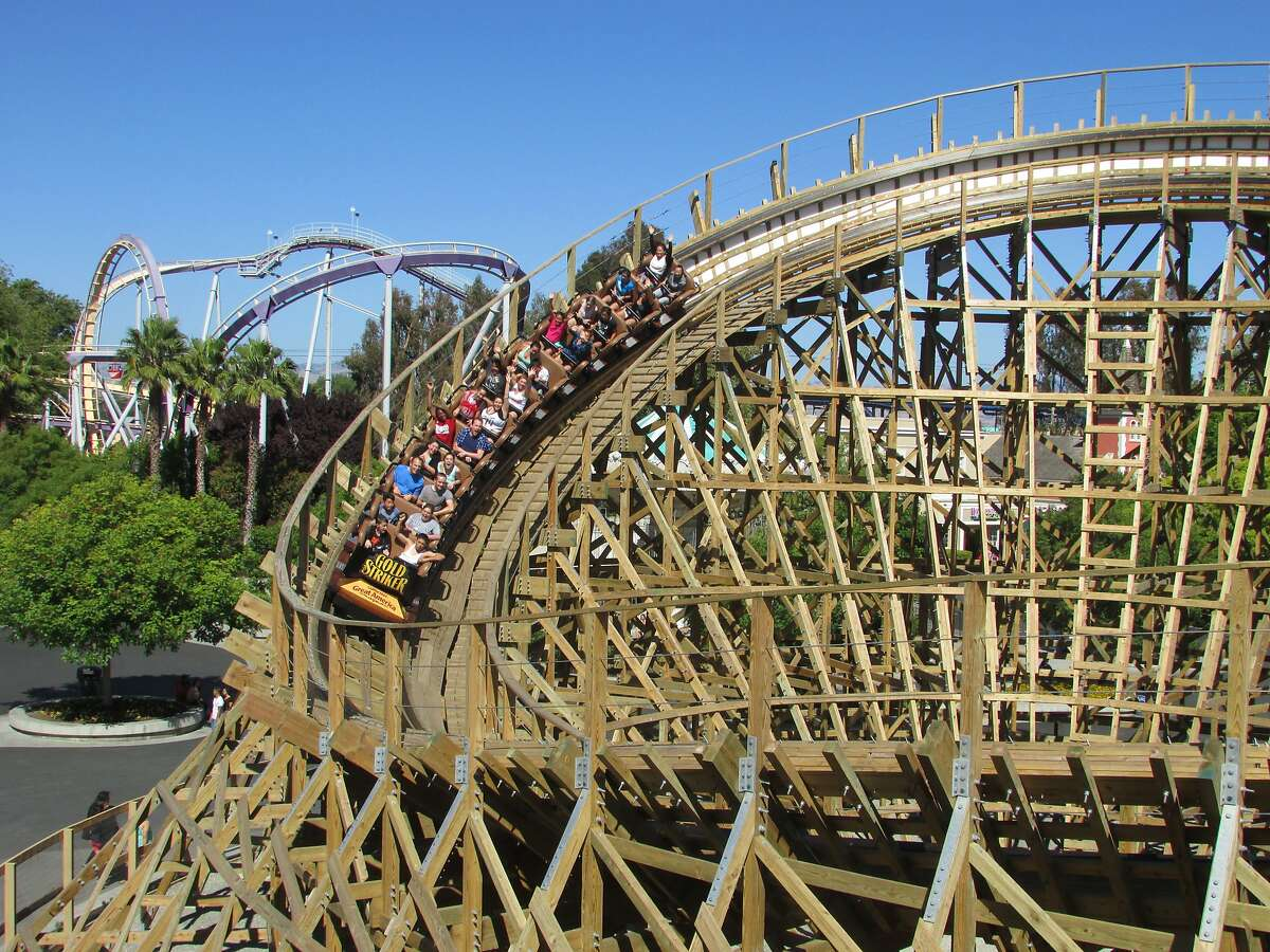 The Gold Striker wooden roller coaster at California's Great America opened in 2013.