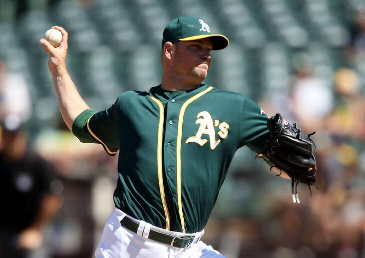 OAKLAND, CA - JULY 24: Ryan Madson #44 of the Oakland Athletics closes the ninth inning against the Tampa Bay Rays at the Oakland-Alameda Coliseum on July 24, 2016 in Oakland, California.  (Photo by Don Feria/Getty Images)