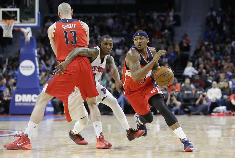 Wizards guard Bradley Beal, driving past DKentavious Caldwell-Pope in April, was the No. 3 pick in 2012. Photo: Carlos Osorio, Associated Press