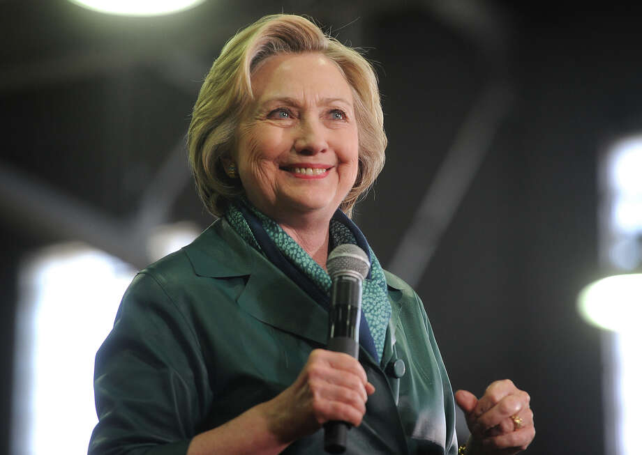 Hillary Clinton is welcomed to the stage by a packed house of supporters during a campaign rally at the Harvey Hubbell gymnasium at the University of Bridgeport in Bridgeport, Conn. on Sunday, April 24, 2016. Photo: Brian A. Pounds / Hearst Connecticut Media / Connecticut Post