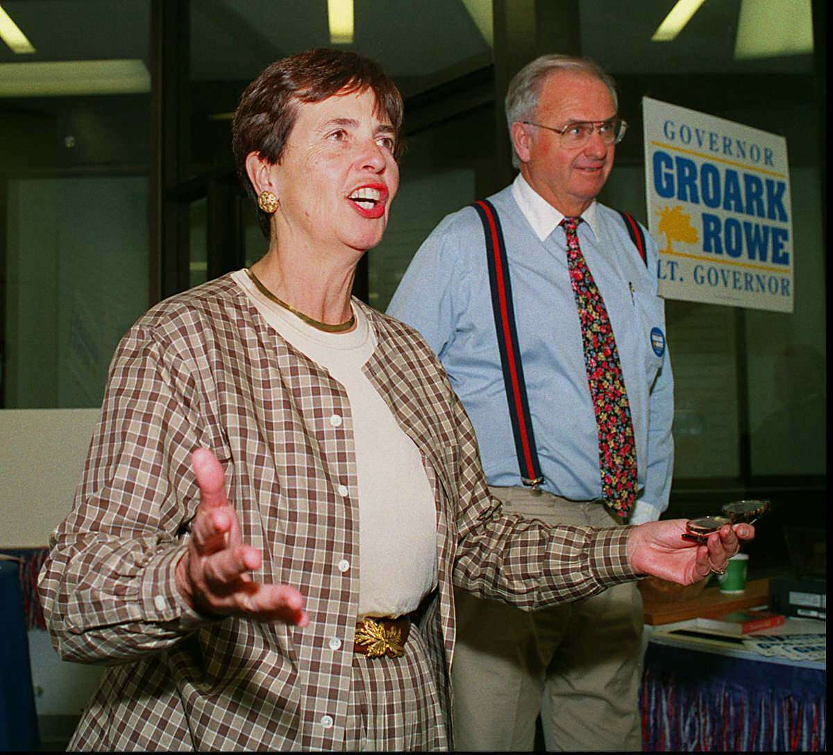 An undated photo of Eunice Groark, who serve as Connecticut Lt. Governor with Gov. Lowell Weicker from 1991 to 1995.