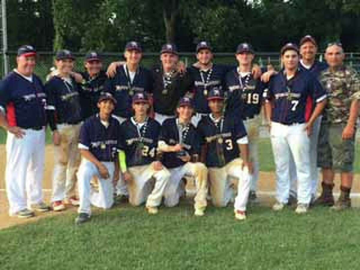 The Norwalk Revolution 16u baseball team captured the Jay Lamando Summer Slam Tournament Crown in Wappinger Falls, N.Y., last weekend. The Revolution, after going 2-1 in pool play, beat the top-seeded Falcons 13-5 as Zach Hurd pitched a complete game and Tom Troy went 4-for-4 with three runs scored. In the championship game, the Revolution beat the Field Generals 9-2 as Jack Letizia and Cory Acevedo combined for the victory. Tom Troy and Ari Lander led the offense with three hits each. Team members include, kneeling, from left, Chris Restaino, Matt Troy, Tom Troy and Cory Acevedo; standing, from left, coach Tom Troy, Ari Lander, Nick Covino, Zach Hurd, Jeff Joslyn, Dax Generoso, Ryan Williams, Jack Letizia, coach Wally Hurd and Jay Lamando (tournament namesake).