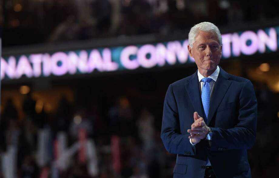 Former President Bill Clinton arrives to speak on Day 2 of the Democratic National Convention at the Wells Fargo Center, July 26, 2016 in Philadelphia, Pennsylvania.    / AFP PHOTO / Robyn BECKROBYN BECK/AFP/Getty Images Photo: ROBYN BECK, AFP/Getty Images / AFP or licensors