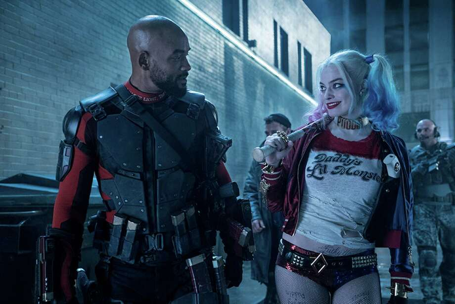 """The biggest names in """"Suicide Squad"""" are Will Smith (Deadshot) and Margot Robbie (Harley Quinn). (Clay Enos/DC Comics/TNS) Photo: Clay Enos, HO / TNS / DC Comics"""