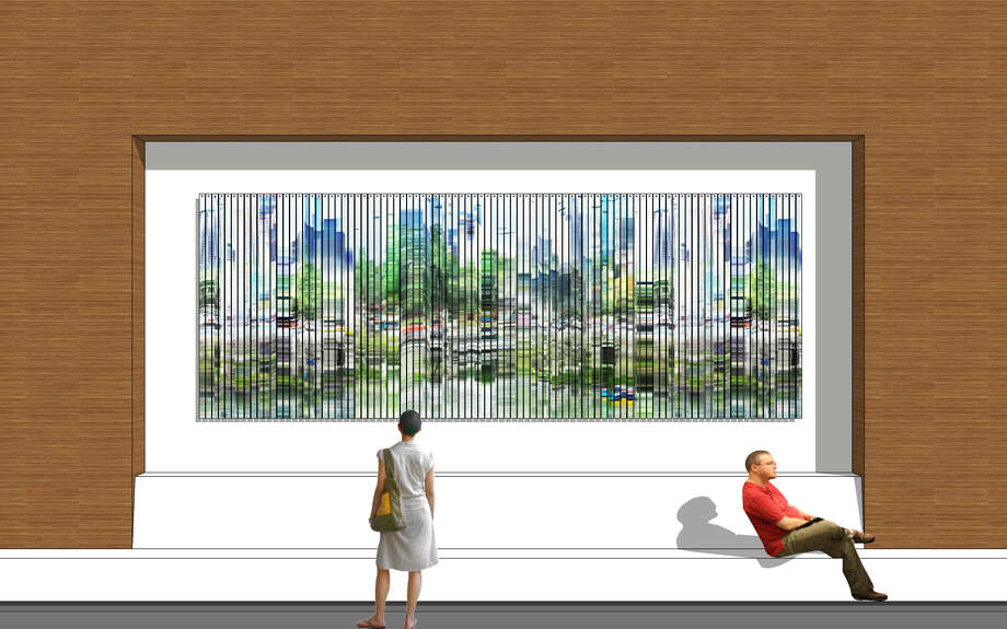 """Shane Allbritton is creating """"Earth and Skyline"""" for the George R. Brown Convention Center's north entry wall. Capturing multiple images of Houston environments on multiple days, the piece utilizes time lapse photography and digital imaging. Photo: Shane Albritton"""