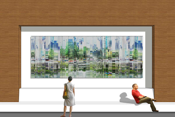 """Shane Albritton is creating """"Earth and Skyline"""" for the George R. Brown Convention Center's north entry wall. Capturing multiple images of Houston environments on multiple days, the piece utilizes time lapse photography and digital imaging."""