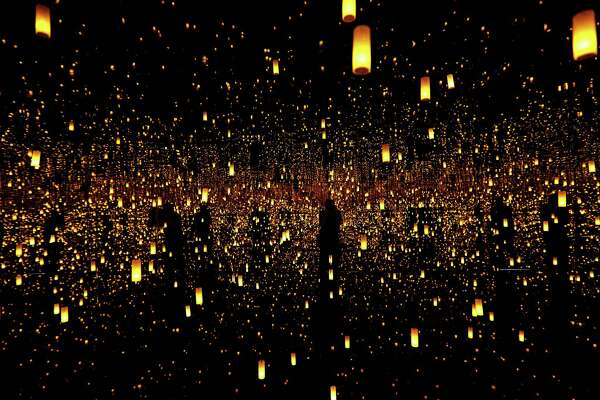 """Aftermath of Obliteration of Eternity infinity room during the """"Kusama: At the End of the Universe"""" exhibit by Japanese artist Yayoi Kusama at the Museum Fine Arts Houston June 22, 2016, in Houston.  ( James Nielsen / Houston Chronicle )"""