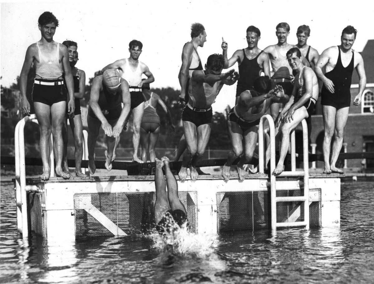 Lincoln Park pool in Albany, NY on July 5, 1935.